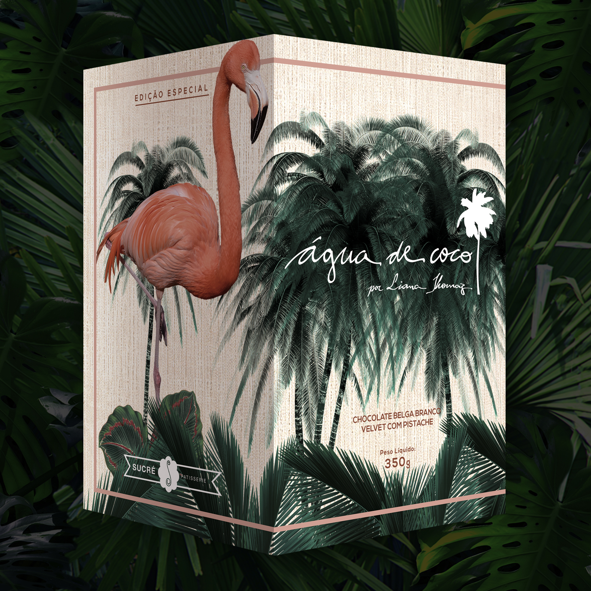 ÁGUA DE COCO por Liana Thomaz - Chocolate Belga Branco Velvet com Pistache - R$119,00 003