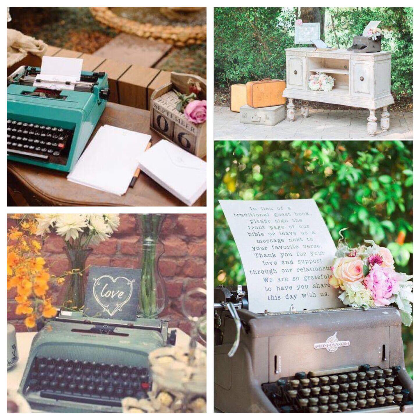 Máquina de escrever - decor casamento - PJ